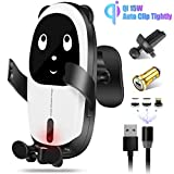 Gokey Wireless QI Car Charger Mount 15W Fast...