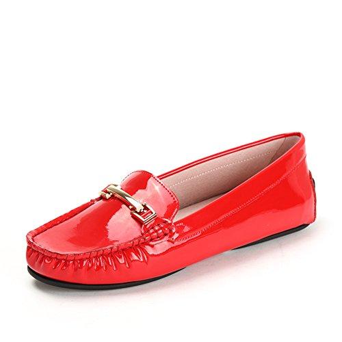 Pintar Pima bocado coloca los zapatos del pie de conducción/los holgazanes planos/Zapatos de cuero B