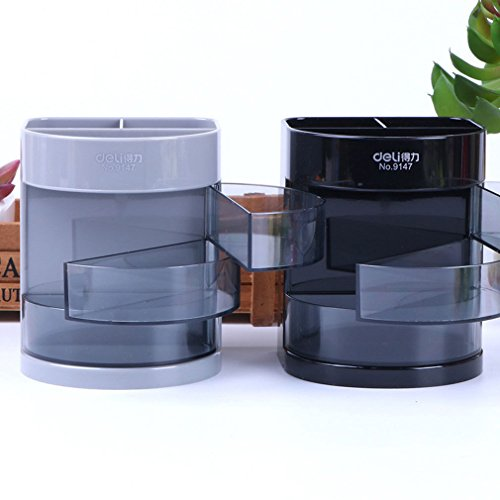 XENO Office Desk Organizer Desktop Pen Pencil Holder Container Storage Box  3 Drawers Well