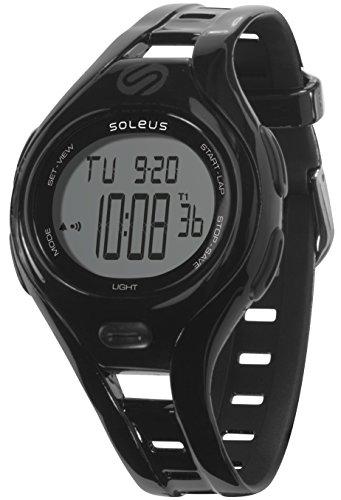 Soleus Women's SR019-001 Dash Small Digital Display Quartz Black Watch