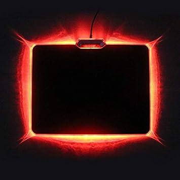 BINGFENG Alfombrilla de ratón Luminosa Antideslizante Juego de Tela de Silicona Alfombrilla de ratón Almohadilla del Teclado tapete de Barra Rojo: ...