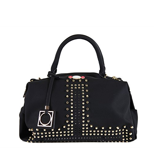 Nikky Women's Soft Studded Boston Shoulder Bag, Black, One - Handbag Boston Black
