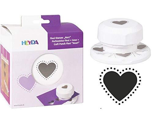 Puncher Flexi 4cm - Hearts, Hole Punch, Art Supplies, Heyda