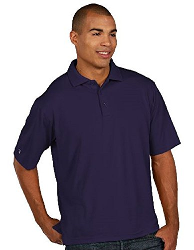 Antigua Purple Classic Shirt - Antigua Men's Essentials - Classic Pique Sport Shirt - Dark Purple - Size XL