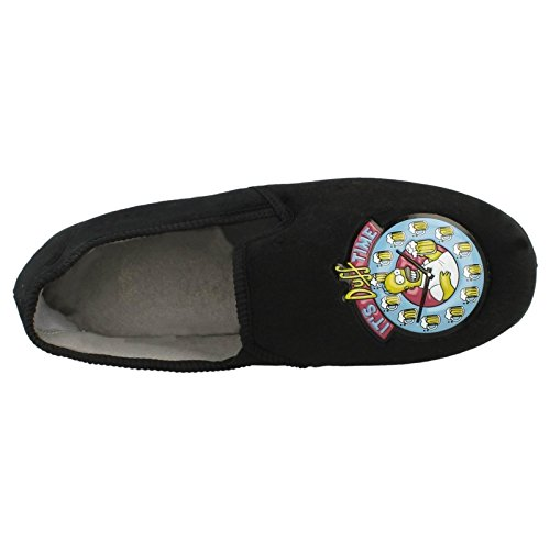 The Simpsons Mens Slippers Its Duff Time Black m5zxX6uCg