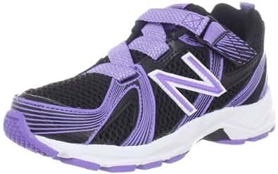 New Balance KV554 Running Shoe (Infant/Toddler/Little Kid/Big Kid),Black/Purple,3.5 W US Big Kid