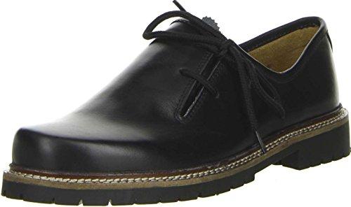 Vista Damen Herren Haferlschuhe Trachtenschuhe Echtleder schwarz, Größe:45;Farbe:Schwarz