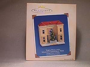 Town Hall and Mayor's Christmas Tree Nostalgic Houses anniversary edition 2003 hallmark ornament