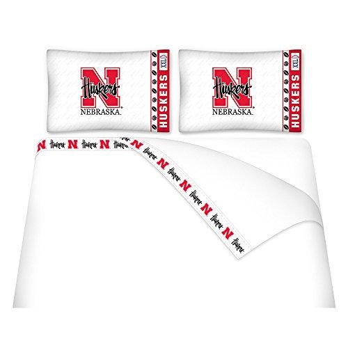 NCAA Nebraska Cornhuskers Micro Fiber Sheet Set (Queen)