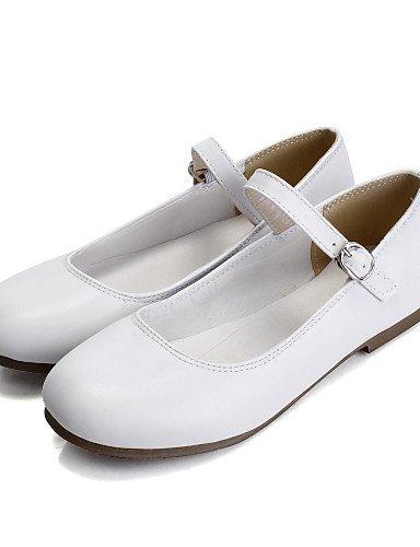 plano almond azul PDX de Flats piel eu38 us7 blanco sintética punta uk5 talón 5 amarillo redonda mujer 5 cn38 negro Casual Beige zapatos de ww0fqpT