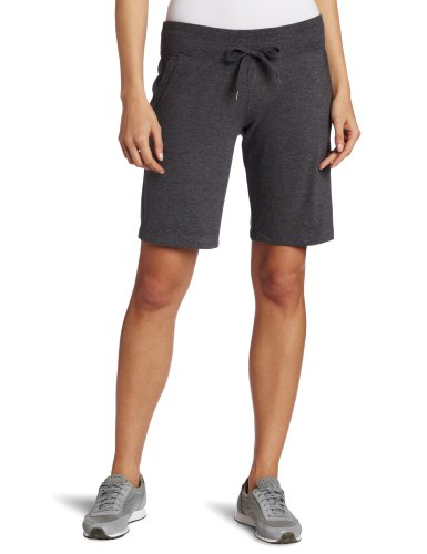 Danskin Women's Essentials Bermuda Short, Charcoal Heather, Large