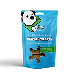 Bristly Dog Dental Chews – Pre-Biotic & Enzymatic Dog Dental Treats for Healthy Teeth and Fresh Dog Breath – Bag of 25 Dog Teeth Cleaning Dental Sticks – 1-2 Month Supply