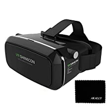 """Akally 3D VR Headset Glasses Virtual Reality Mobile Phone 3D Movies for iPhone 6s/6 Plus/6/5S/5C/5 Samsung Galaxy S5/S6/Note4/Note5 & Other 4.7""""-6.0"""" Cellphones"""