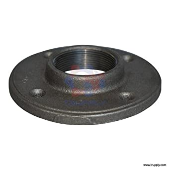 Threaded fitting floor flange malleable iron for 1 inch galvanized floor flange