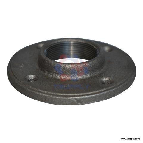 Threaded Fitting | Floor Flange | Malleable Iron | Black (2.5