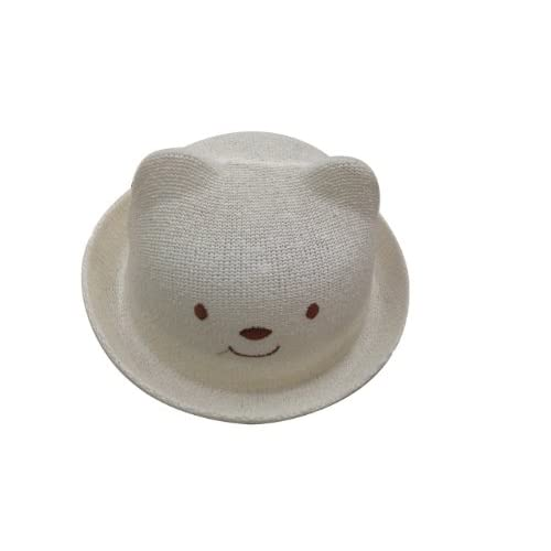 nice JTC Cartoons Kids Sun Hat Child Cap with Ear Smail Pattern Visor Prop Outfit