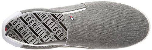 On Slip Gris Essential 004 Hilfiger Sneaker Zapatillas Tommy Hombre Grey para Light fwn16OAqAF