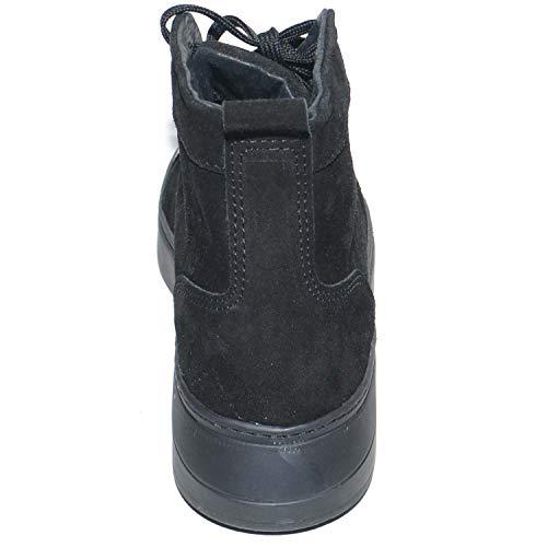 Uomo Sneakers Made Pelle Camoscio Nero Punta In Vera Fondo Di Army Italy Alta Con rrUn7pd