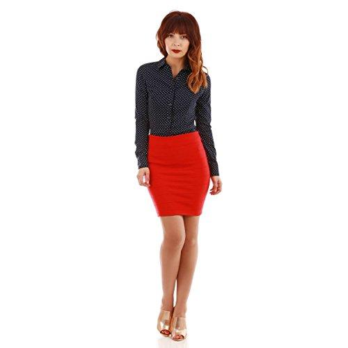 La Modeuse - Falda - para mujer Rojo