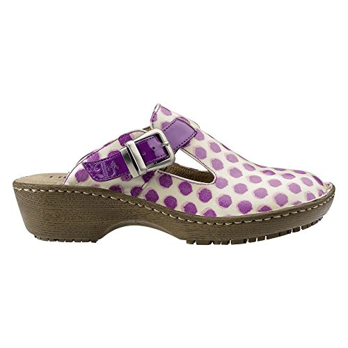 Lila SureGrip Womens Bailey Orchid Slip Resistant Open Back Clog Orchid kg1fa