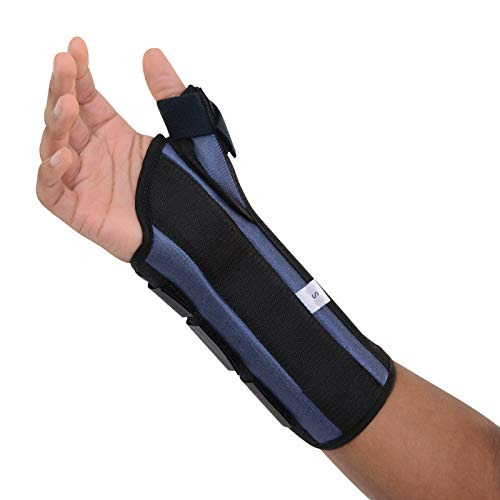Sammons Preston Thumb Spica Wrist Brace, MC and CMC Joint Support and Stabilizer, Secure Brace and Splint for Thumb with Open Finger, Splint for Recovery, Therapy, Rehabilitation, Right, Large by Sammons Preston (Image #5)
