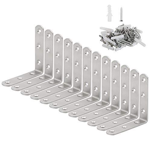 er Bracket,90 Degree Steel Corner Brace- 12 Packs, 3.6