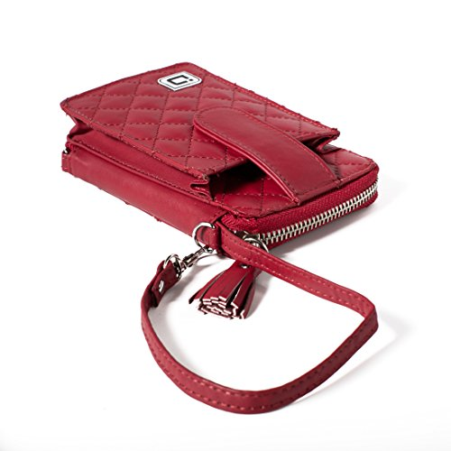 RFID Wallet Wristlet with Front Pocket in Leather - RFID Blocking Wallets for Women
