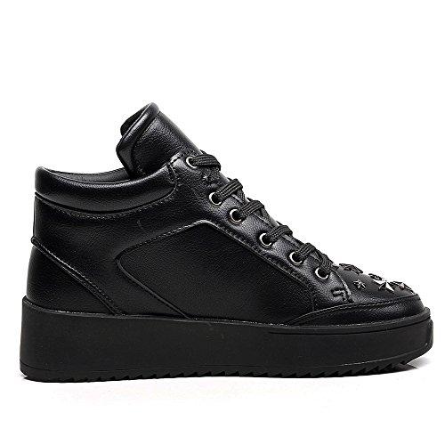 Black Moda Sneakers para Zapatillas Altas Cestfini Mujer Altas Estrellas 1PTxadqw8