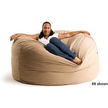 Wonderful 6 Ft Giant Foam Bean Bag Chair Like A Lovesack (Round Not Oblong)