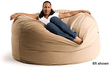 6 Ft Giant Foam Bean Bag Chair Like A Lovesack (Round Not Oblong)