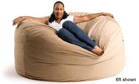 Amazon.com: 6 Ft Giant Foam Bean Bag Chair Like a Lovesack (Round Not  Oblong): Kitchen u0026 Dining