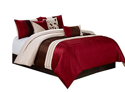@homechoice 7 Piece EDEN Patchwork And Pintuck Comforter Set