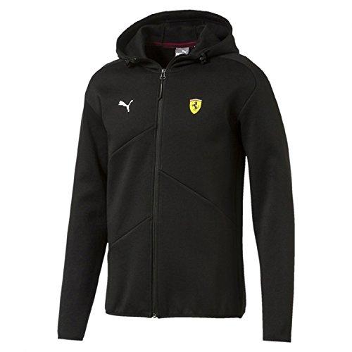 Puma Ferrari SF Black Hooded Sweat Jacket -