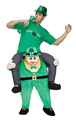 [Carry Me Leprechaun Adult Costume] (End Of The World Party Costume)