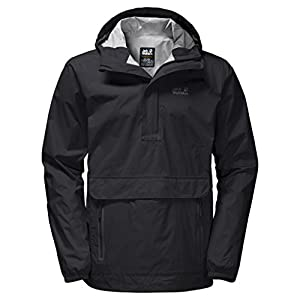 Jack Wolfskin Men's Cloudburst Smock Jackets, Black, X-Large