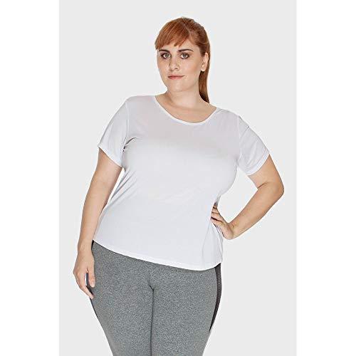 Blusa New Fitness Plus Size Branco-48