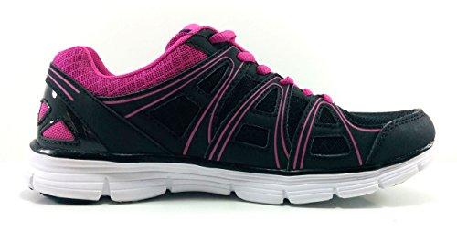 KappaUlaker - Zapatillas de Deportes de Interior mujer Black-Fuxia