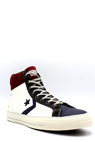 Converse Star Player Hi Leather, Chaussures en Forme de Bottines Mixte Adulte Bianco-blu