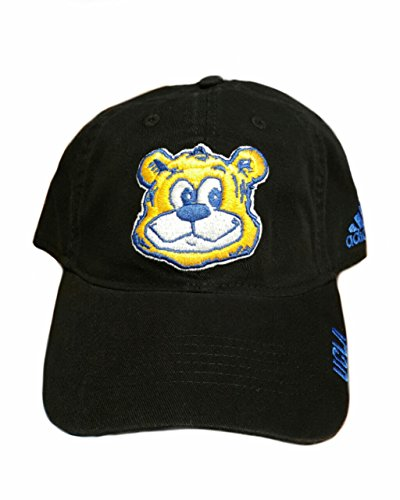 UCLA Adjustable Slouch Baseball HAT Black with Happy Bear Head Logo EZW51