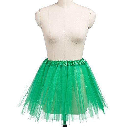 1950s Vintage Tutu Multi Layers Tulle Skirt Ballet Bubble Tutu Skirt Crinoline Petticoat Skirt Dance Tutus for Women,Green,Child