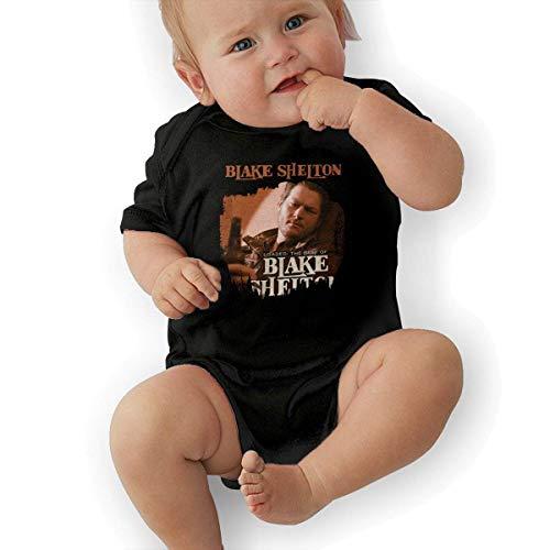 sretinez Baby's Blake Shelton Loaded The Best of Blake Shelton Climbing Bodysuit Black -