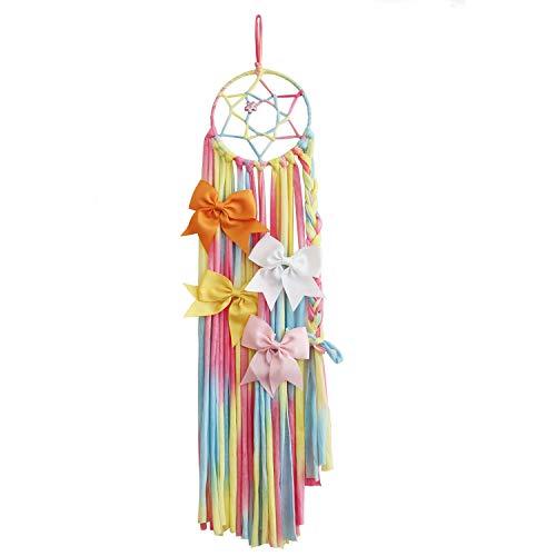 (Girls Hair Bows Holder, iBiubiu Bow Hanger Hair Clips Storage Organizer for Baby Girls-Rainbow (1Pcs-Rainbow) )