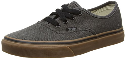 Black Canvas Gum Vans Authentic Washed q6SZt