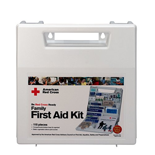 First Aid Only American Red Cross Deluxe Family First Aid Kit, Plastic Case