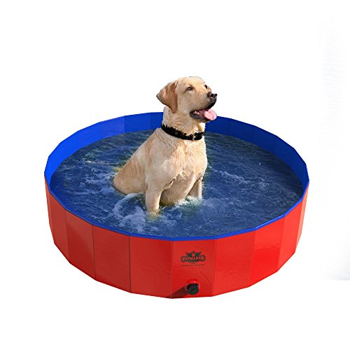 PETMAKER Pet Pool and Bathing Tub-Foldable with Carrying Bag Included, Travel Friendly Tub for Bathing or Playtime-for Dogs, Cats and More, 47x12