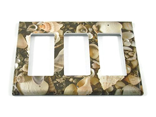 Triple Rocker Light Switch Cover, Seashell (248TR)