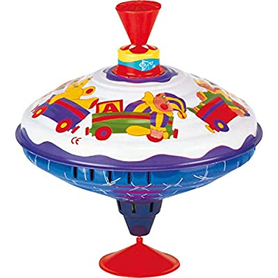 Bolz Playbox Music Spinning Top Toy for Children, The Funny Buzzing Hum Gets Louder As The Top Spins Faster, So Durable: Toys & Games