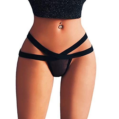 Women's Charming Thong Lingerie Lace G-String Panties Strappy Body Harness Panties T-Back by Lowprofile