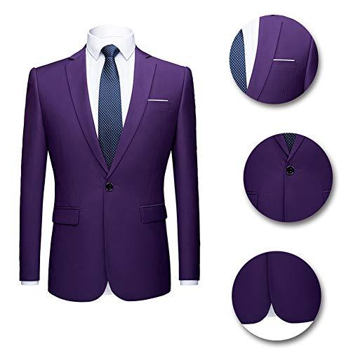 Slim Châle Dîner Mariage Fit En Élégant Violet 6 Veste Couleurs Homme Mode Costume Business Pantalon Pièces Formel Deux Col Tuxedo 4zqpBBwXf