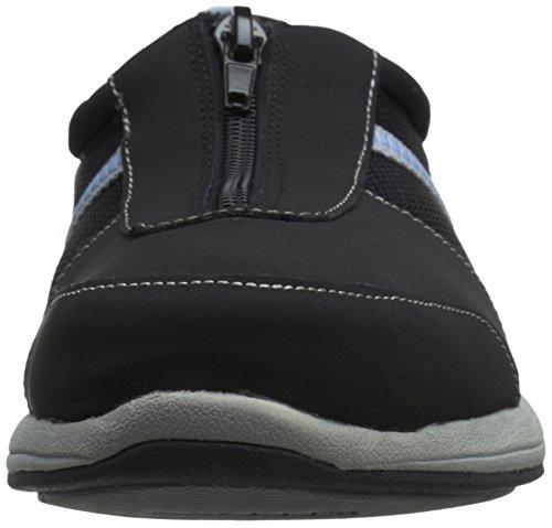 Deportivas Leather Negro Mujer Easy Street Fabric Cuero Black Zapatillas para Delilah wCaaSxqH